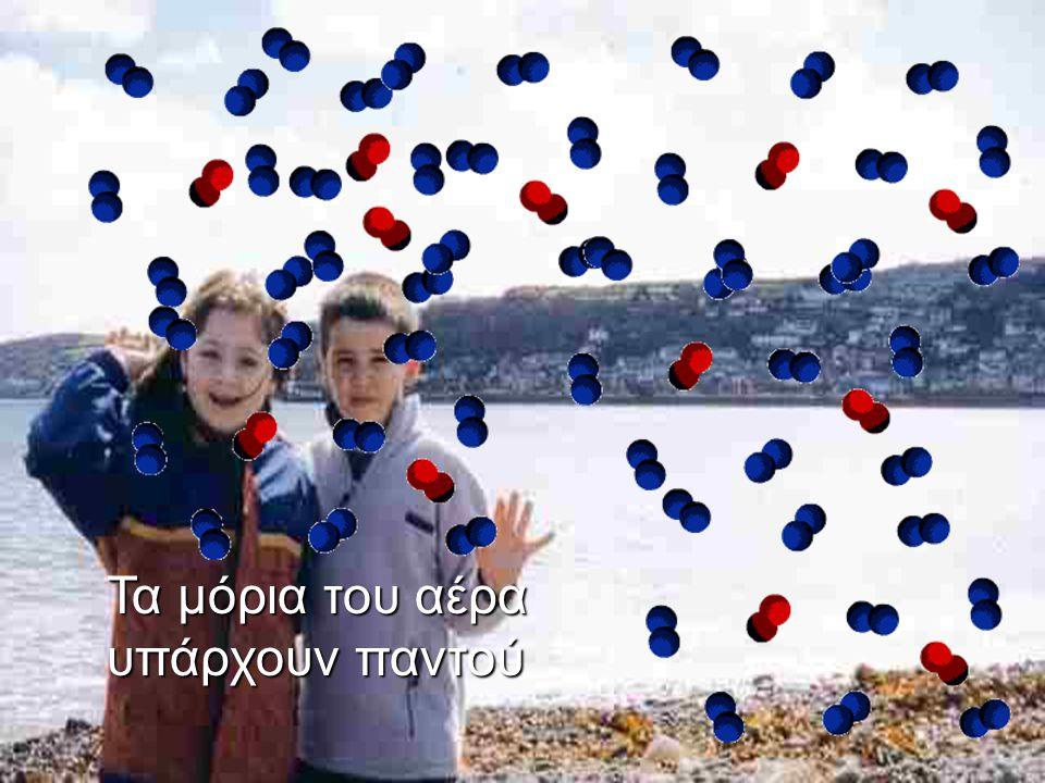 Ο αέρας αποτελείται από μόρια.
