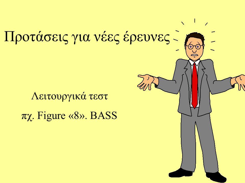 Προτάσεις για νέες έρευνες Λειτουργικά τεστ πχ. Figure «8». BASS