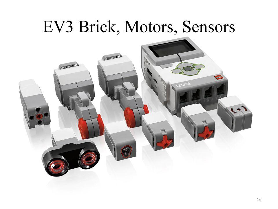 EV3 Brick, Motors, Sensors 16