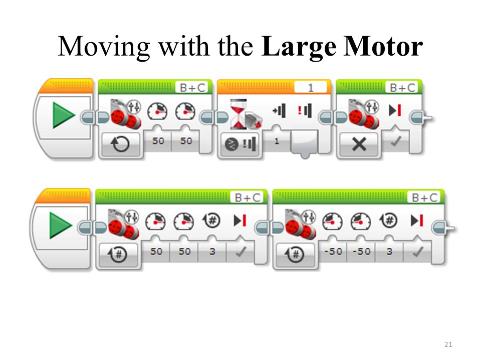 Moving with the Large Motor 21