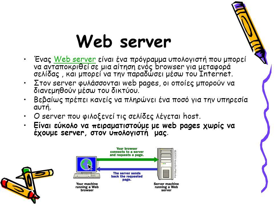 Βλέποντας τον «κώδικα» Η web page αποτελείται από –Κείμενο και –HTML tags, απαραίτητα για τη μορφοποίηση του κειμένου.