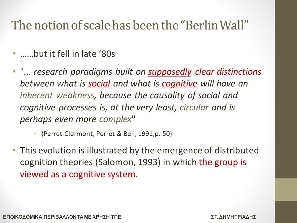 """ΕΠΟΙΚΟΔΟΜΙΚΑ ΠΕΡΙΒΑΛΛΟΝΤΑ ΜΕ ΧΡΗΣΗ ΤΠΕΣΤ. ΔΗΜΗΤΡΙΑΔΗΣ The notion of scale has been the """"Berlin Wall"""" ……but it fell in late '80s"""