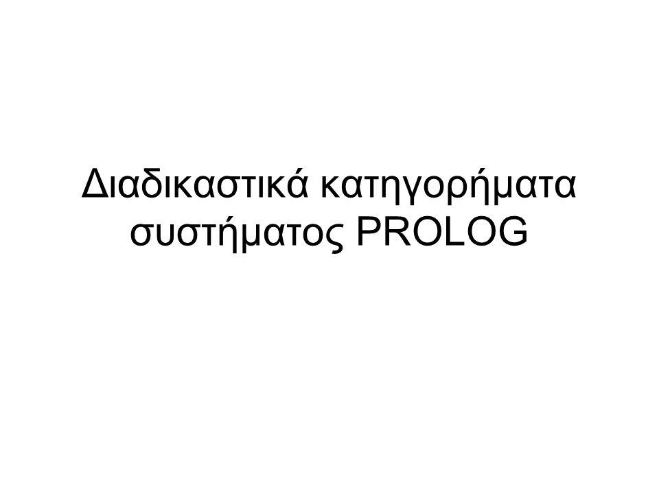 Διαδικαστικά κατηγορήματα συστήματος PROLOG