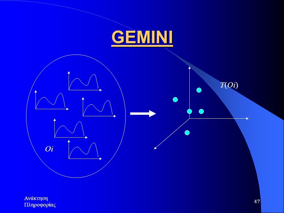Ανάκτηση Πληροφορίας 47 GEMINI Oi T(Oi)