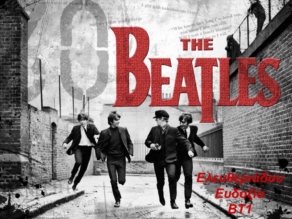 The beatles Ήταν ένα παγκοσμίου φήμης αγγλικό ροκ συγκρότημα από το Λίβερπουλ, αποτελούμενο από τον τραγουδιστή και κιθαρίστα Τζων Λένον (John Lennon), τον τραγουδιστή και μπασίστα Πωλ Μακάρτνεϋ (Paul McCartney μετέπειτα Sir Paul McCartney), τον κιθαρίστα Τζωρτζ Χάρισον (George Harrison) και τον ντράμερ Ρίνγκο Σταρ (Ringo Starr, καλλιτεχνικό ψευδώνυμο του Richard Starkey).