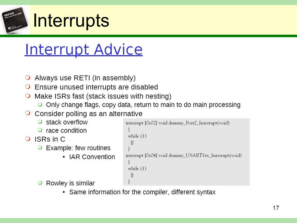 Interrupts 17