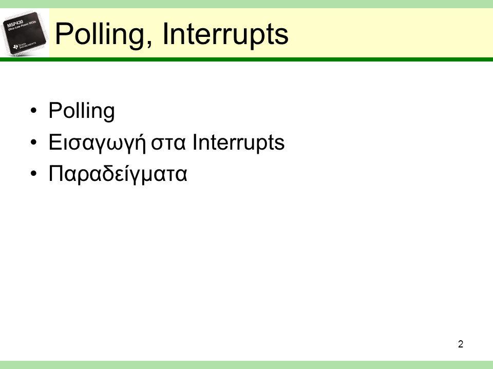 MSP430 Interrupts 13