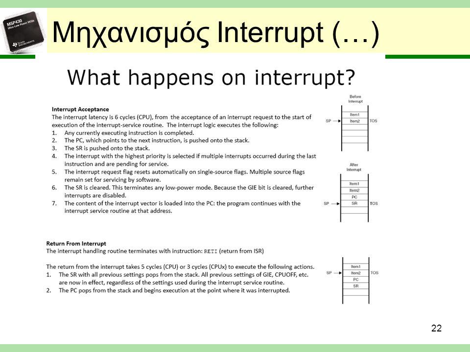 Μηχανισμός Interrupt (…) 22
