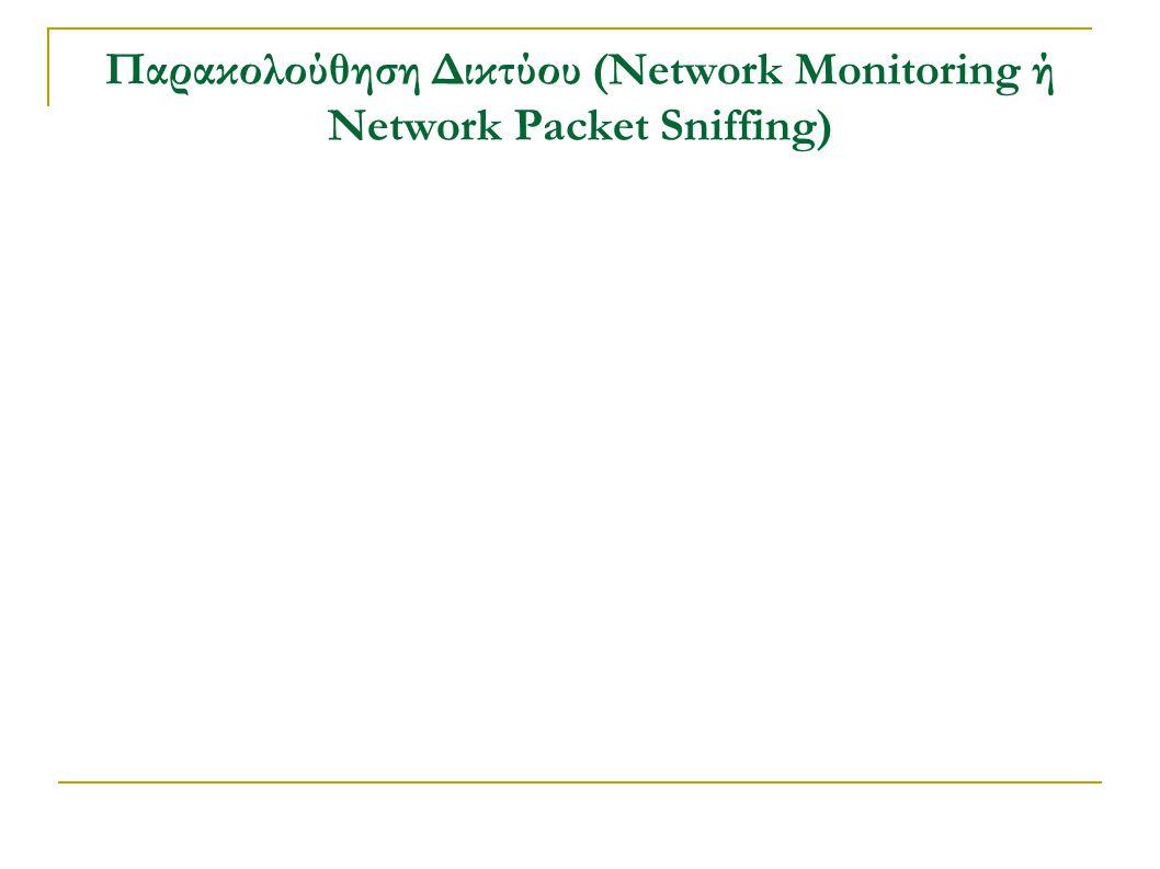 Παρακολούθηση Δικτύου (Network Monitoring ή Network Packet Sniffing)