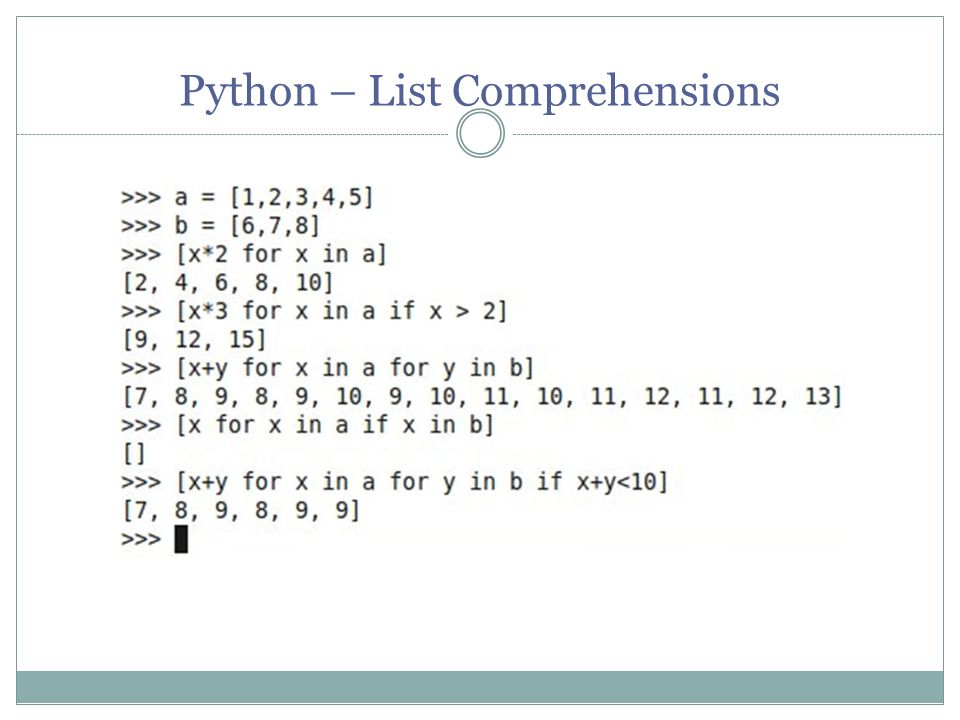 Python – List Comprehensions