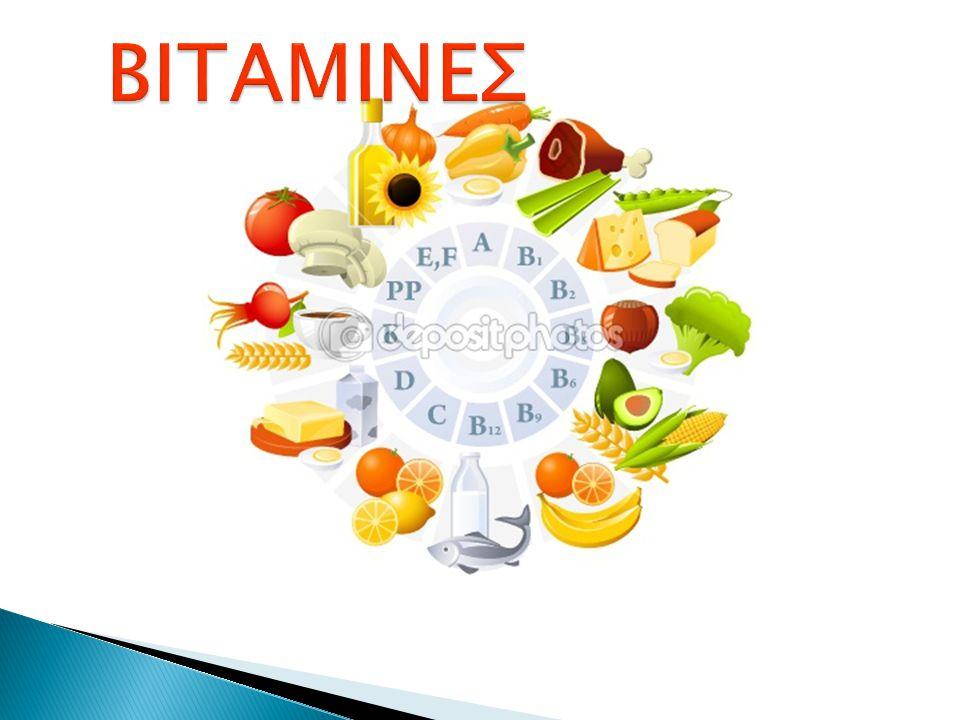 Τι είναι οι βιταμίνες; Βιταμίνη A Βιταμίνη B1 Βιταμίνη B2 Βιταμίνη B3 Βιταμίνη B4 Βιταμίνη B5 Βιταμίνη B6 Βιταμίνη BH Βιταμίνη B12 Βιταμίνη C Βιταμίνη D Βιταμίνη E Βιταμίνη F Βιταμίνη K Βιταμίνες και εφηβεία