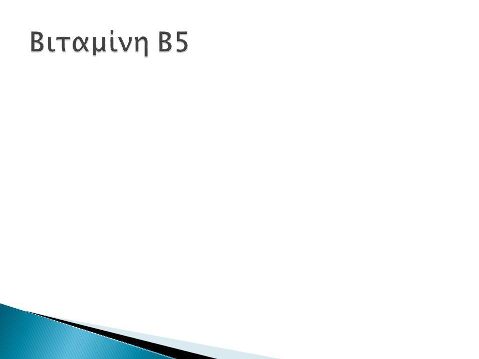  Η βιταμίνη B6 (πυριδοξίνη) είναι μέλος των των υδατοδιαλυτών βιταμινών Β.