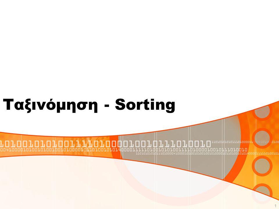 Ταξινόμηση Φυσαλίδας – Bubble Sort Με την μέθόδο της ταξινόμησης φυσαλίδας μπορούμε να ταξινομήσουμε τα στοιχεία ενός μονοδιάστατου πίνακα σε αύξουσα ή σε φθίνουσα σειρά.