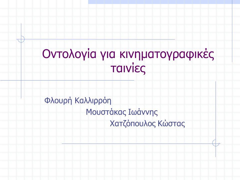 Οντολογία για κινηματογραφικές ταινίες Φλουρή Καλλιρρόη Μουστάκας Ιωάννης Χατζόπουλος Κώστας
