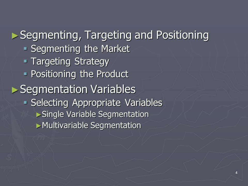5 Basic elements of segmentation