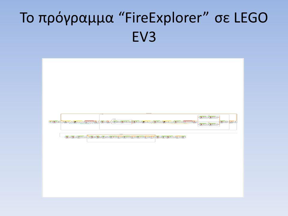 Το πρόγραμμα FireExplorer σε LEGO EV3
