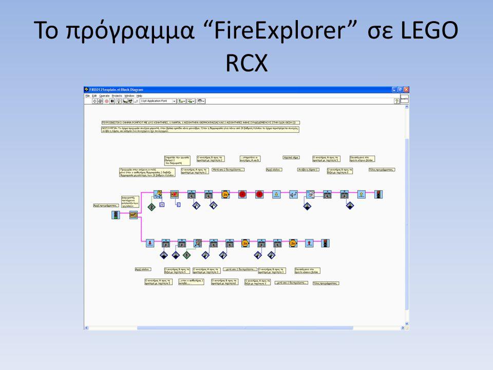 Το πρόγραμμα FireExplorer σε LEGO RCX