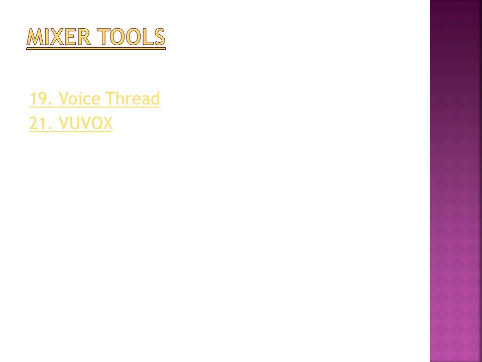 19. Voice Thread 21. VUVOX