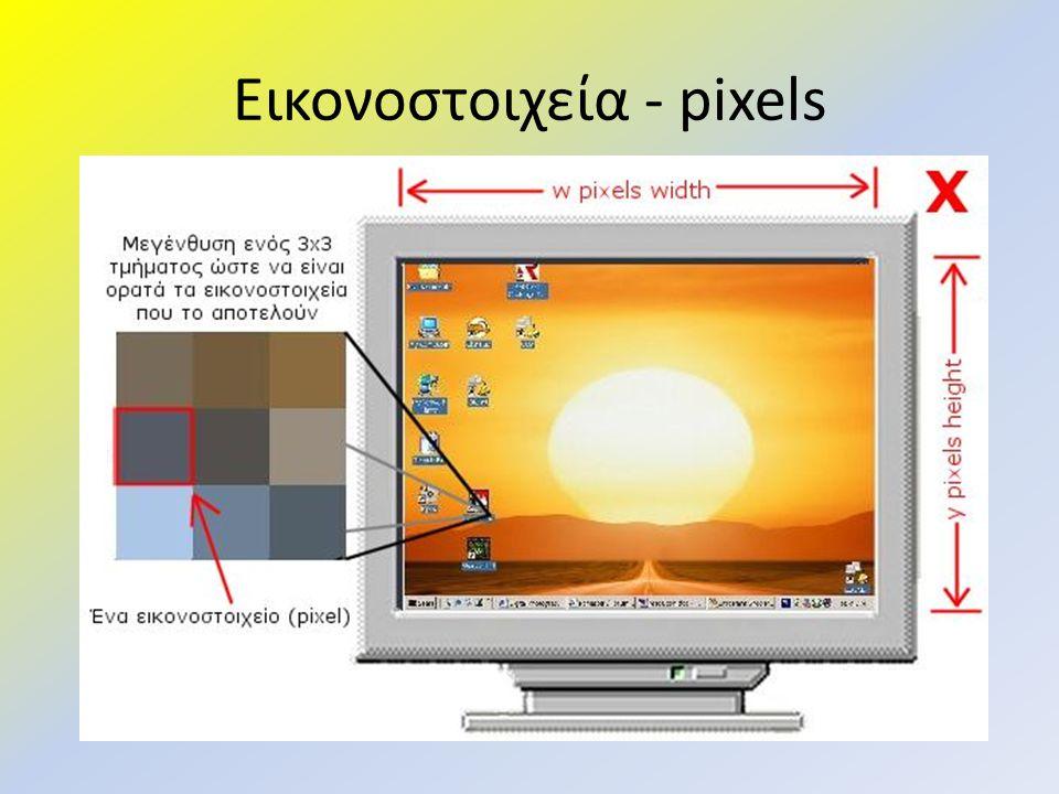 Εικονοστοιχεία - pixels