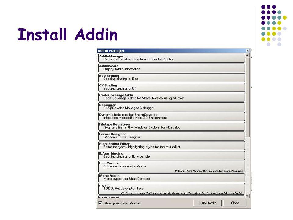 Install Addin