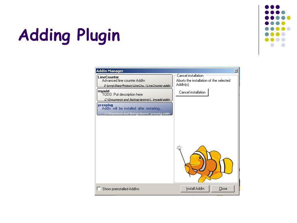 Adding Plugin