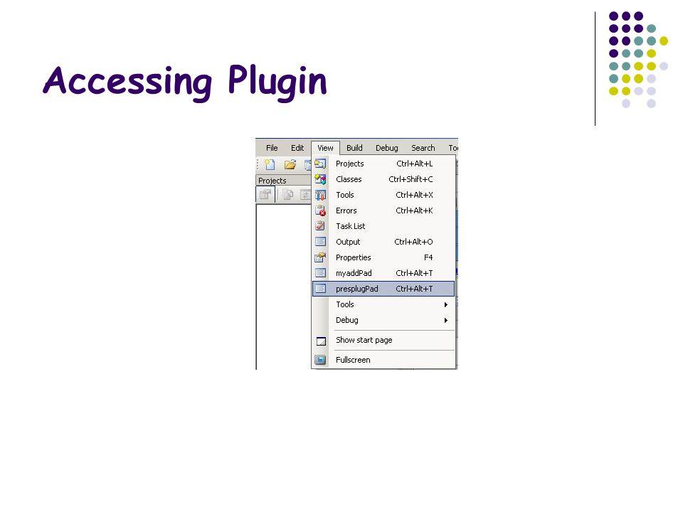 Accessing Plugin