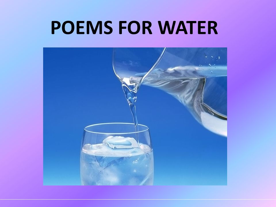 POEMS FOR WATER