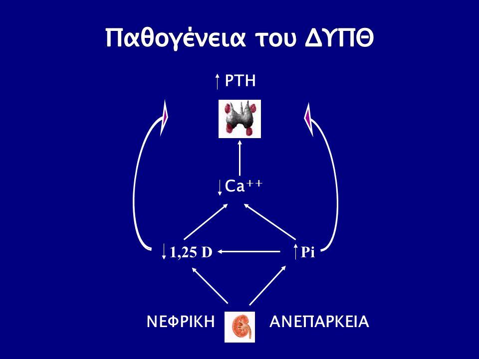 1,25 D Pi Ca ++ ΝΕΦΡΙΚΗ ΑΝΕΠΑΡΚΕΙΑ PTH