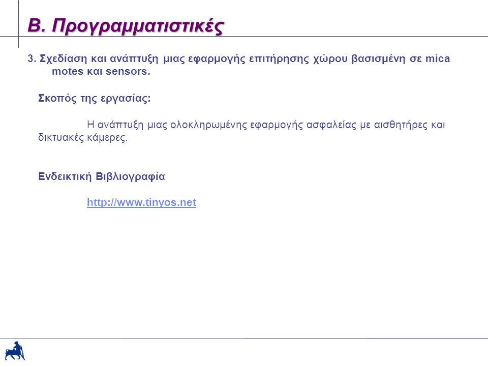 Β. Προγραμματιστικές 3.