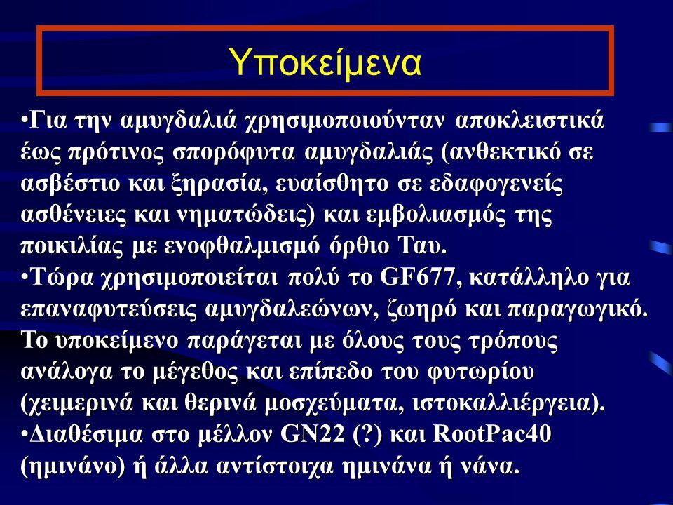 Υποκείμενα - Πολλαπλασιασμός Για την καρυδιά στην Ελλάδα μόνο εμβολιασμό σε σπορόφυτο καρυδιάς J.