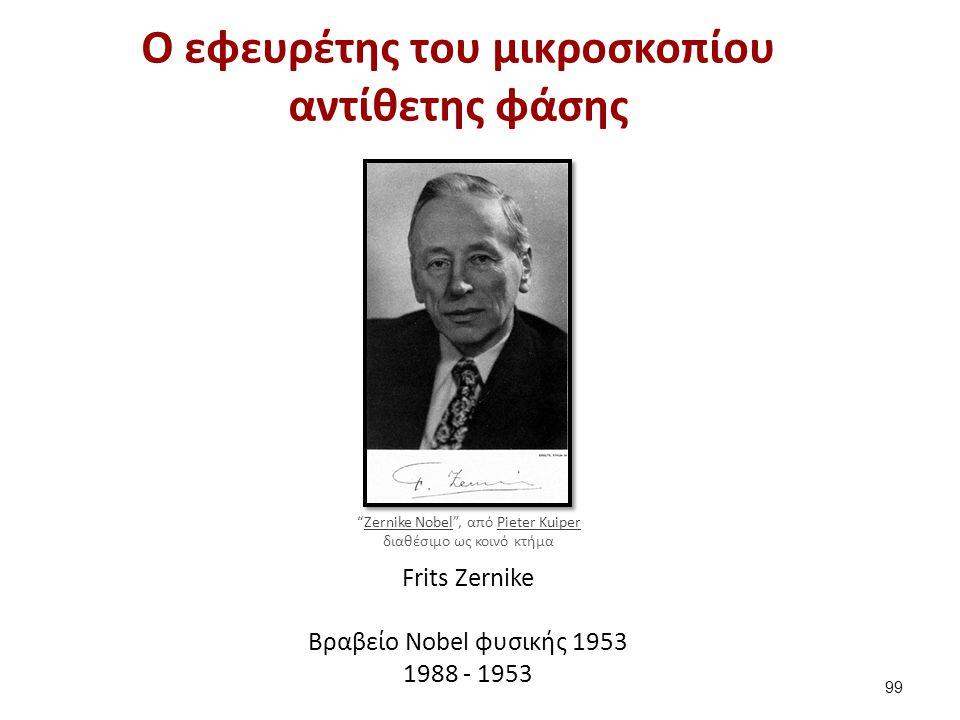 """Ο εφευρέτης του μικροσκοπίου αντίθετης φάσης Frits Zernike Βραβείο Nobel φυσικής 1953 1988 - 1953 99 """"Zernike Nobel"""", από Pieter Kuiper διαθέσιμο ως κ"""
