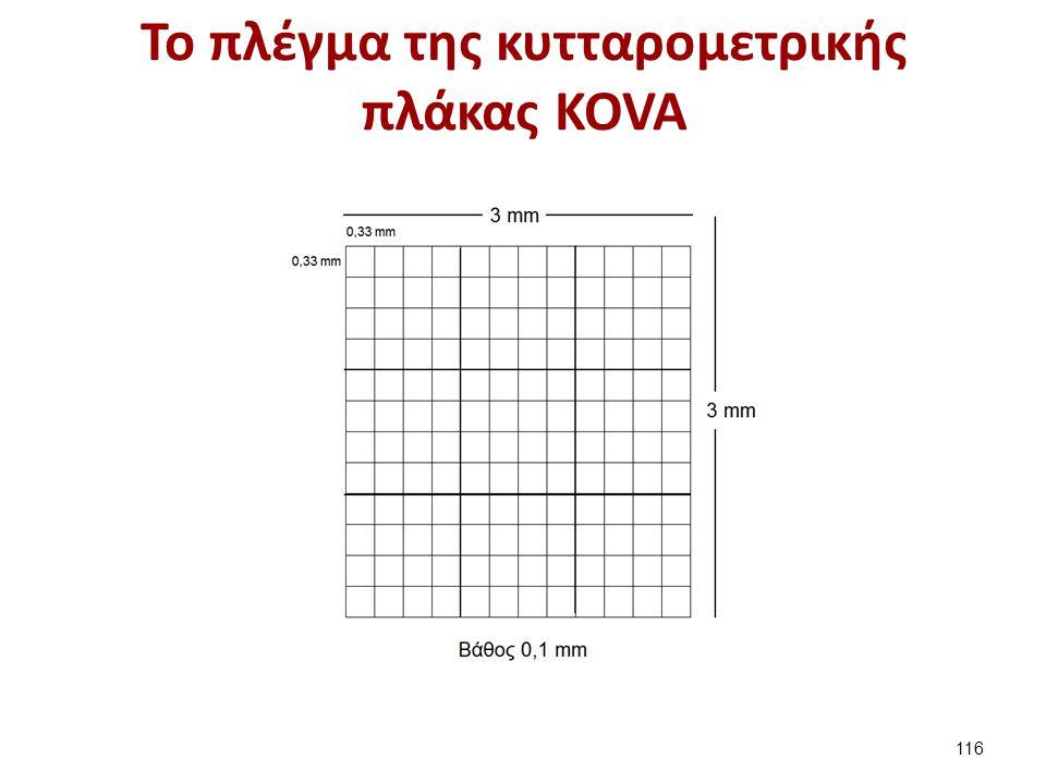 Το πλέγμα της κυτταρομετρικής πλάκας KOVA 116