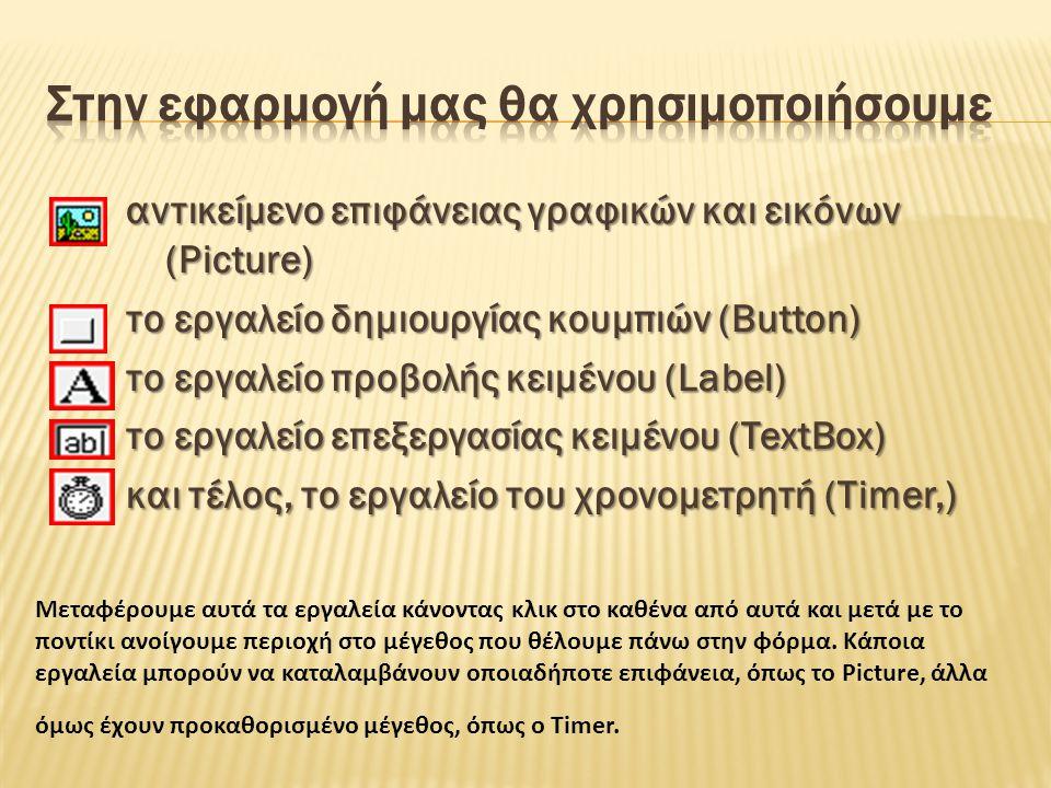 Μπορούμε επιπλέον να αλλάξουμε και άλλες ιδιότητες του αντικειμένου txtTitle ώστε να είναι πιο χρήσιμο, π.χ.