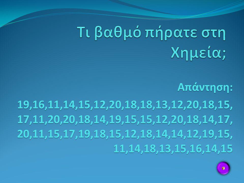 Απάντηση: 19,16,11,14,15,12,20,18,18,13,12,20,18,15, 17,11,20,20,18,14,19,15,15,12,20,18,14,17, 20,11,15,17,19,18,15,12,18,14,14,12,19,15, 11,14,18,13