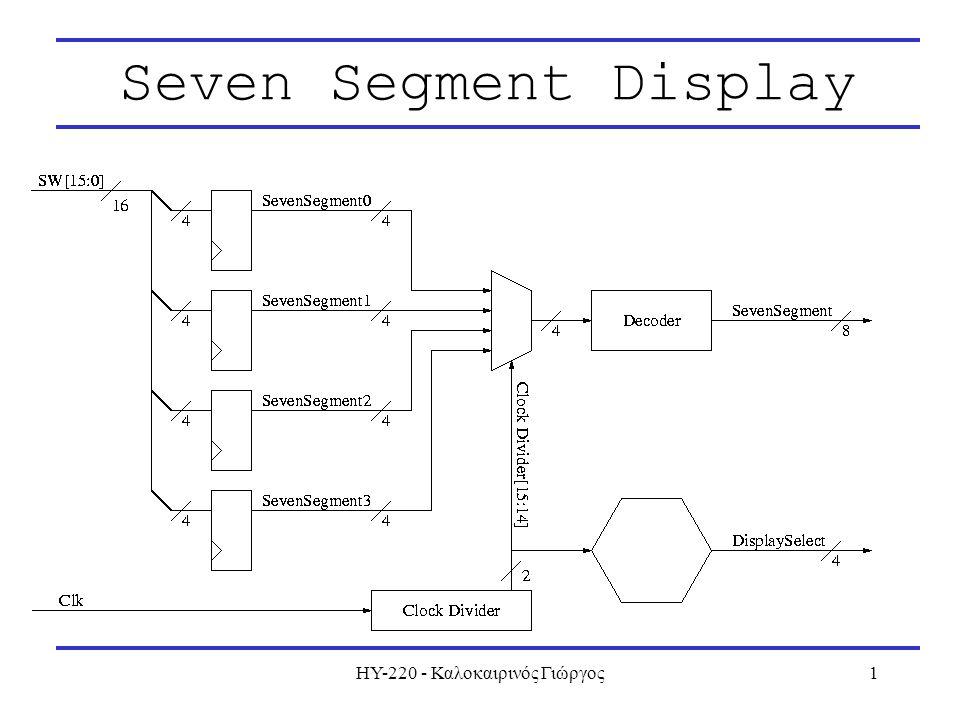 ΗΥ-220 - Καλοκαιρινός Γιώργος1 Seven Segment Display