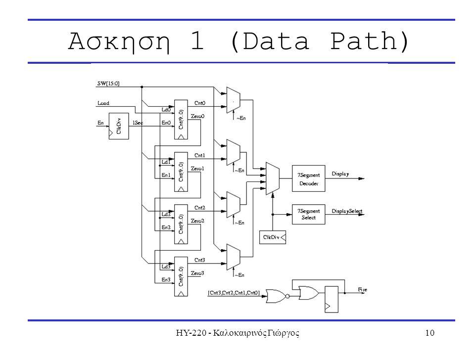 ΗΥ-220 - Καλοκαιρινός Γιώργος10 Ασκηση 1 (Data Path)