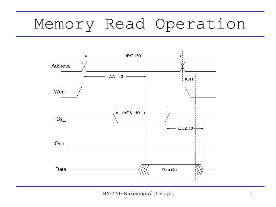 ΗΥ-220 - Καλοκαιρινός Γιώργος7 Memory Read Operation