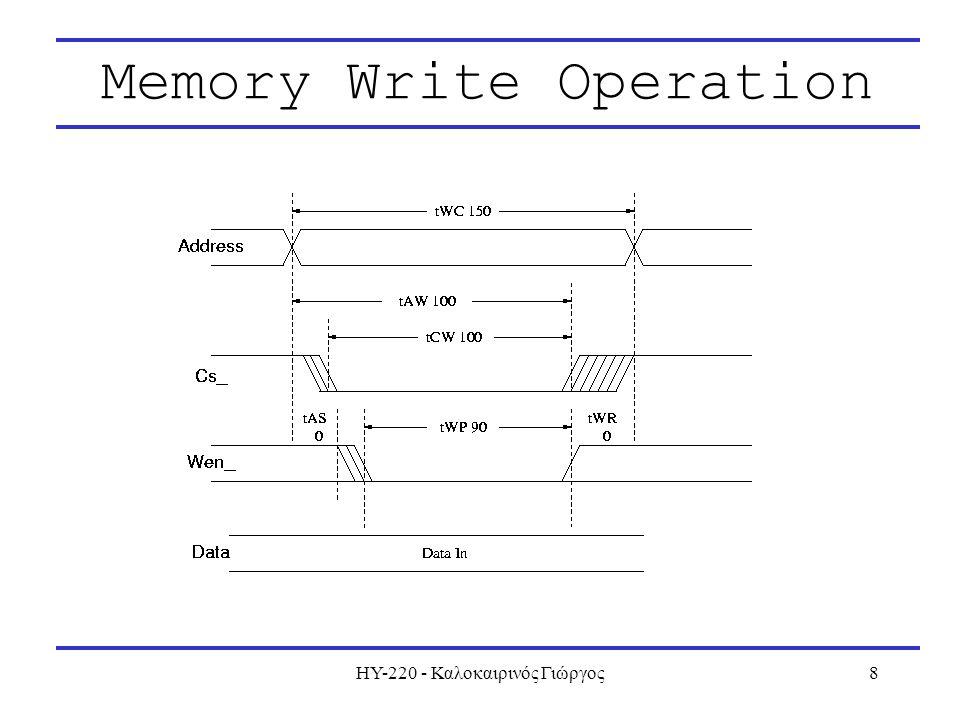 ΗΥ-220 - Καλοκαιρινός Γιώργος8 Memory Write Operation