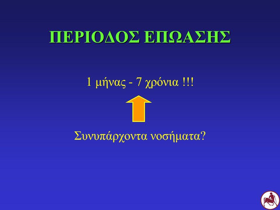 ΠΕΡΙΟΔΟΣ ΕΠΩΑΣΗΣ 1 μήνας - 7 χρόνια !!! Συνυπάρχοντα νοσήματα?