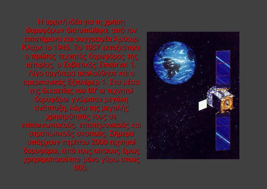 Η αρχική ιδέα για τη χρήση δορυφόρων διατυπώθηκε από τον επιστήμονα και συγγραφέα Άρθουρ Κλαρκ το 1945.