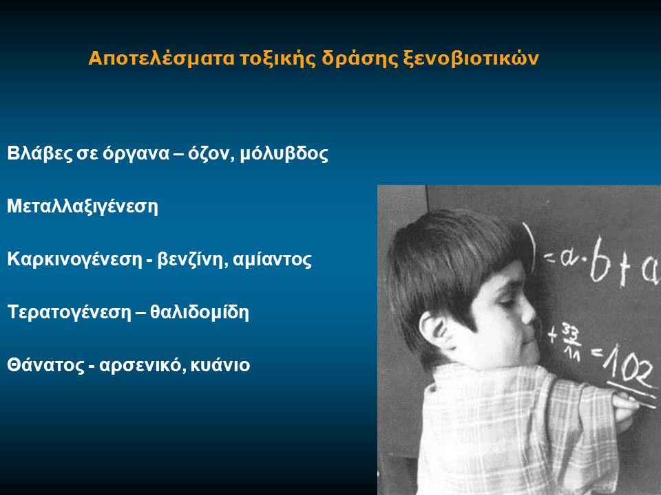 ΚΑΤΑΝΟΜΗ ΞΕΝΟΒΙΟΤΙΚΩΝ ΕΝΖΥΜΩΝ Στα σπονδυλωτά τα ξενοβιοτικά ένζυμα βρίσκονται κυρίως: -Ήπαρ (η σημαντικότερη θέση ξενοβιοτικών ενζύμων) -Δέρμα, πνεύμονες, ρινικό βλεννογόνο, μάτι, γαστρεντερική οδό (σημεία εισόδου των ξενοβιοτικών στον οργανισμό), -Νεφρά, πάγκρεας, σπλήνα, καρδιά, εγκέφαλο, επινεφρίδια, όρχεις, ωοθήκη, πλακούντα, πλάσμα, ερυθροκύτταρα, αιμοπετάλια, λεμφοκύτταρα, αορτή.
