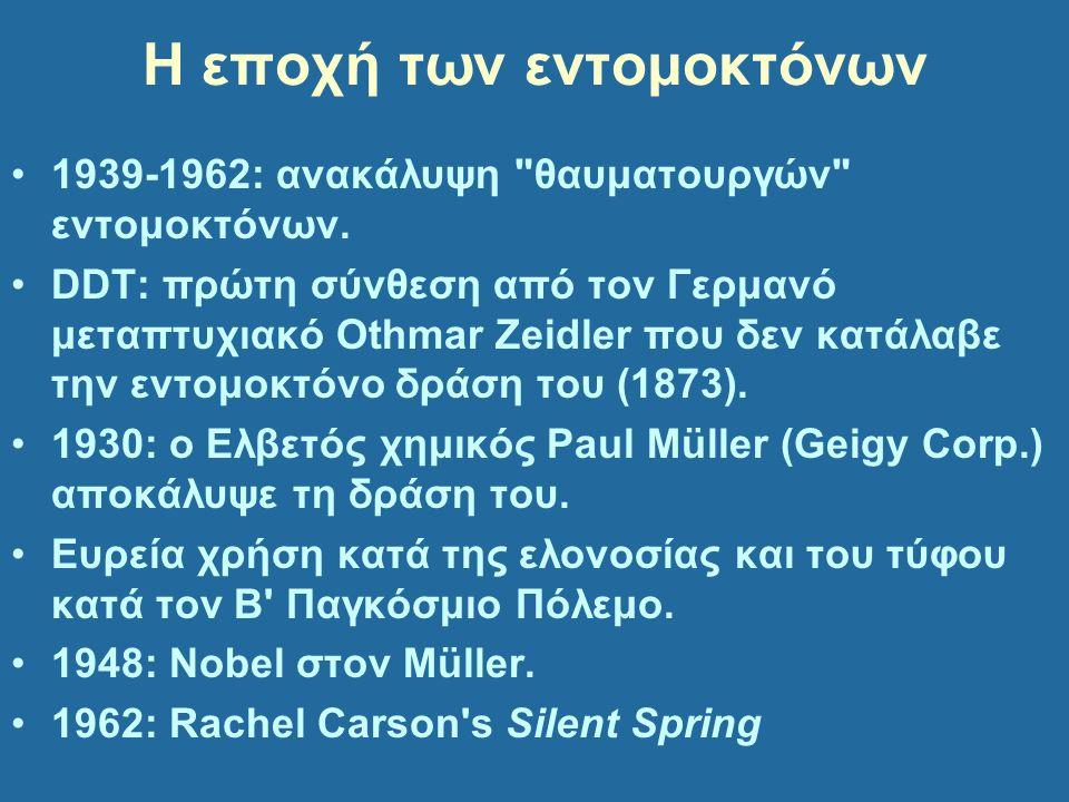 Η εποχή των εντομοκτόνων 1939-1962: ανακάλυψη