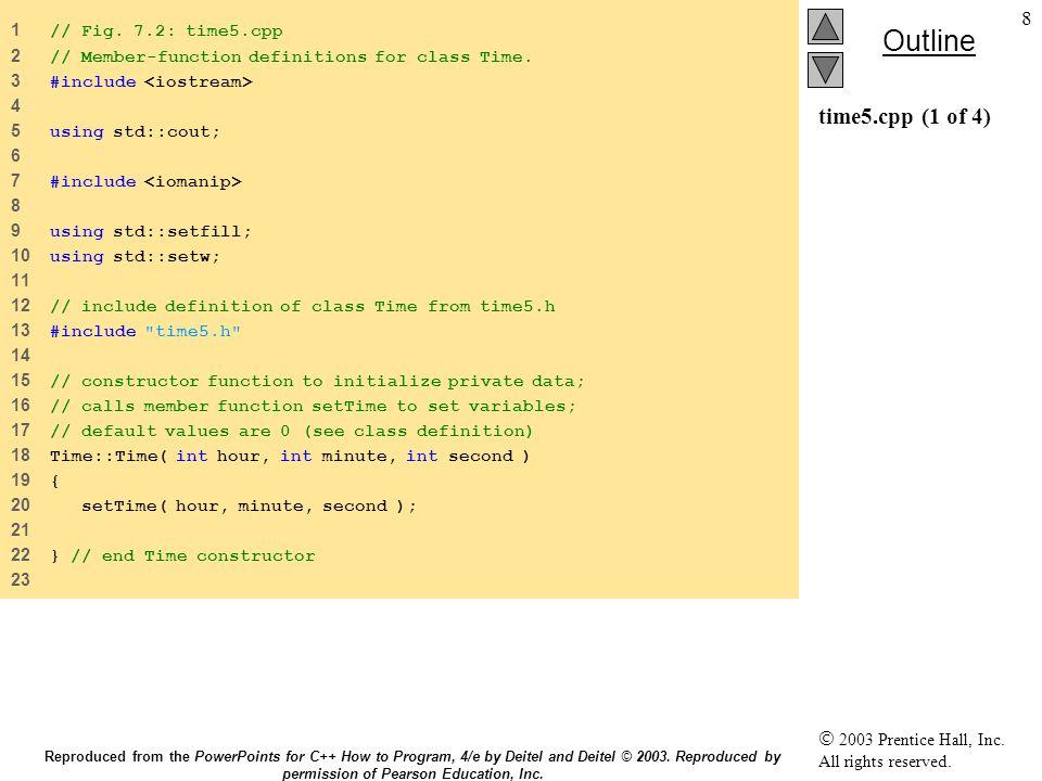 59 7.7 static τάξεις static συναρτήσεις static συναρτήσεις Δε μπορούν να προσπελάσουν non- static δεδομένα ή συναρτήσεις Δε μπορούν να προσπελάσουν non- static δεδομένα ή συναρτήσεις Δεν υπάρχει this για τις static συναρτήσεις Δεν υπάρχει this για τις static συναρτήσεις static δεδομένα και συναρτήσεις υπάρχουν ανεξάρτητα από τα αντικείμενα static δεδομένα και συναρτήσεις υπάρχουν ανεξάρτητα από τα αντικείμενα Reproduced from the PowerPoints for C++ How to Program, 4/e by Deitel and Deitel © 2003.