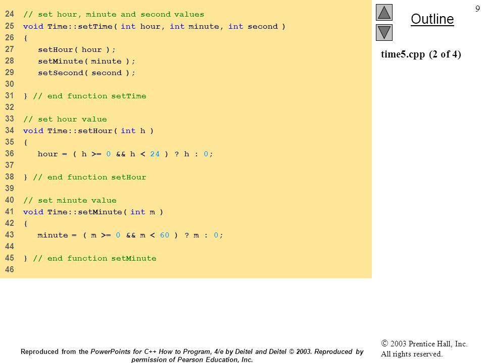 40 7.5Χρήση του this this this Επιτρέπει στο αντικείμενο να έχει πρόσβαση στη δική του διεύθυνση Επιτρέπει στο αντικείμενο να έχει πρόσβαση στη δική του διεύθυνση Ο τύπος του δείκτη this εξαρτάται από: Ο τύπος του δείκτη this εξαρτάται από: Τύπο του αντικειμένου Τύπο του αντικειμένου Αν η συνάρτηση έιναι const Αν η συνάρτηση έιναι const Για τις non- const συναρτήσεις Employee Για τις non- const συναρτήσεις Employee this έχει τύπο Employee * const this έχει τύπο Employee * const Constant δείκτη σε non-const Employee αντικείμενο Constant δείκτη σε non-const Employee αντικείμενο Για τις const συναρτήσεις Employee Για τις const συναρτήσεις Employee this έχει τύπο const Employee * const this έχει τύπο const Employee * const Constant δείκτη σε constant Employee αντικείμενο Constant δείκτη σε constant Employee αντικείμενο Reproduced from the PowerPoints for C++ How to Program, 4/e by Deitel and Deitel © 2003.