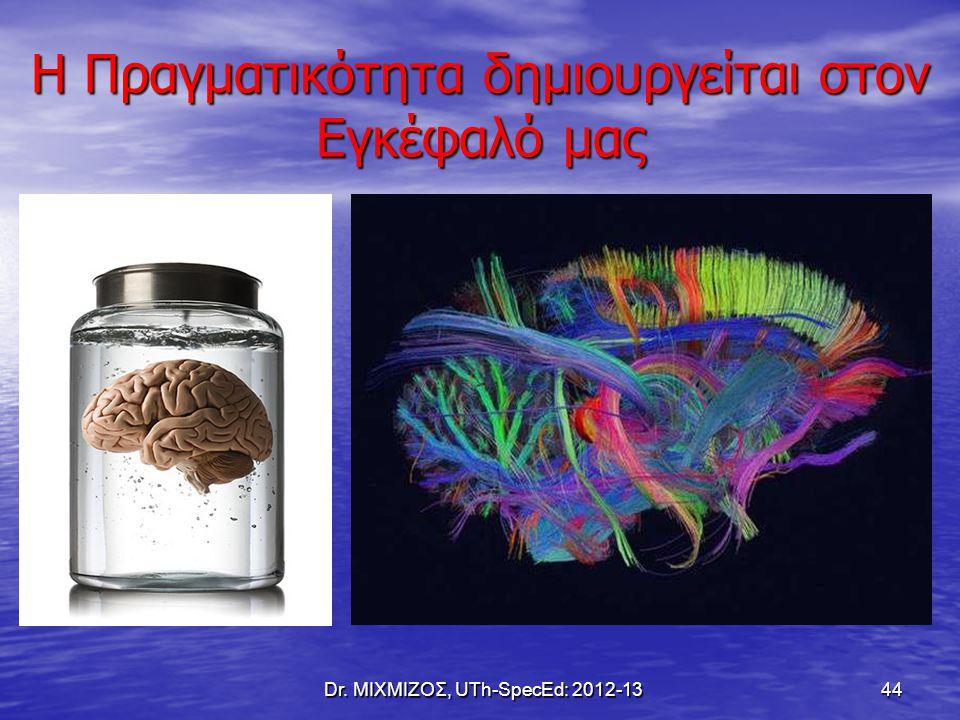Η Πραγματικότητα δημιουργείται στον Εγκέφαλό μας Dr. ΜΙΧΜΙΖΟΣ, UTh-SpecEd: 2012-13 44