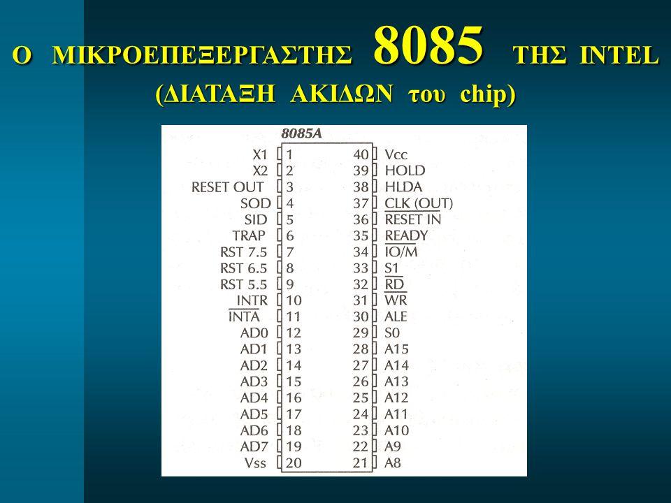 Ο ΜΙΚΡΟΕΠΕΞΕΡΓΑΣΤΗΣ 8085 ΤΗΣ INTEL (ΔΙΑΤΑΞΗ ΑΚΙΔΩΝ του chip)