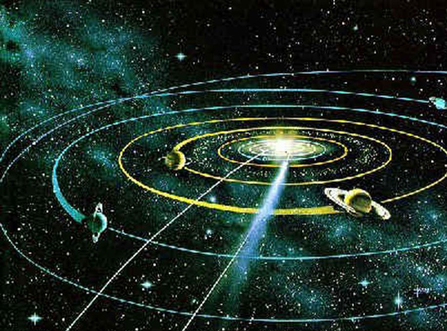 Εμφανίζεται ένα νέφος διαστημικής σκόνης που σταδιακά συμπυκνώθηκε για να σχηματίσει μια πρωταρχική μάζα αερίων και να δημιουργήσει δισεκατομύρια αστέ