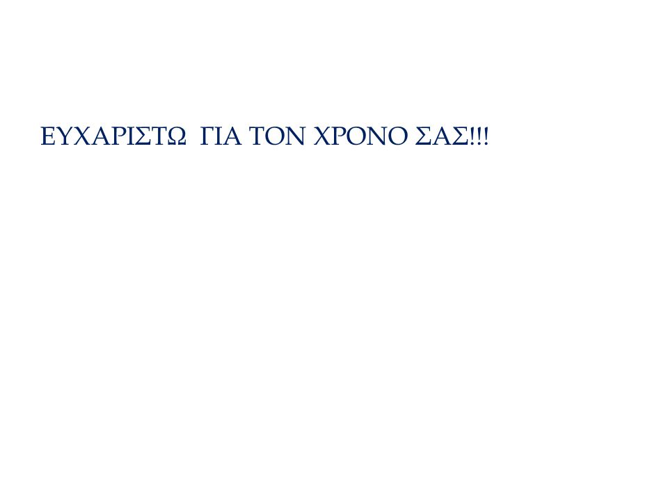 ΤΕΛΟΣ ΕΥΧΑΡΙΣΤΩ ΓΙΑ ΤΟΝ ΧΡΟΝΟ ΣΑΣ!!!
