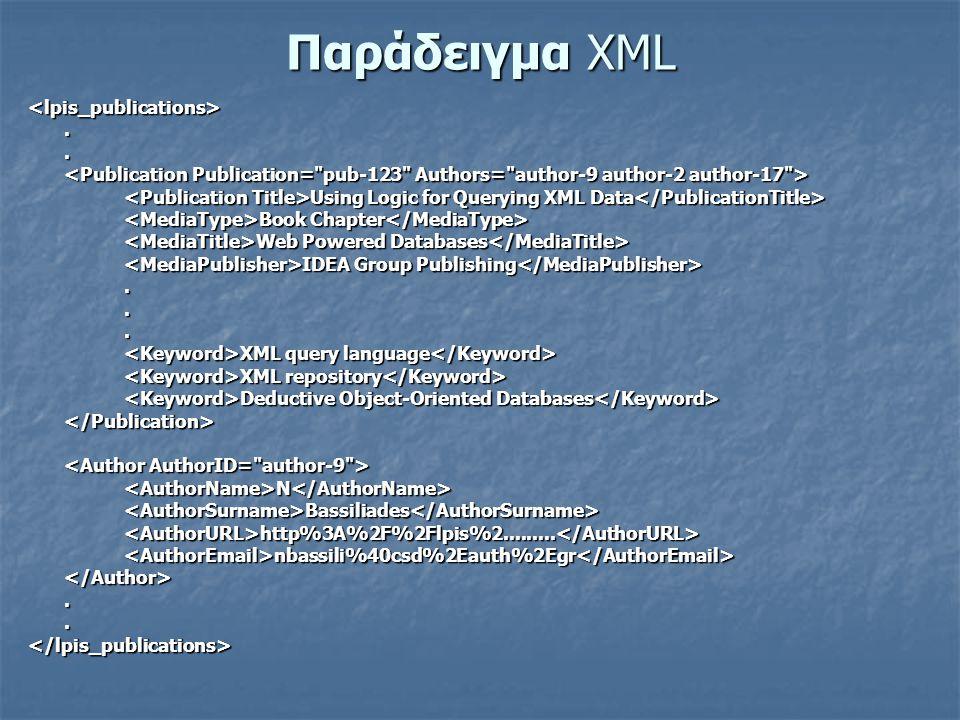 Παράδειγμα XML <lpis_publications>..