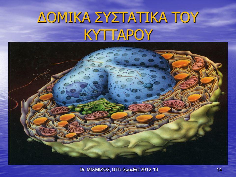 ΔΟΜΙΚΑ ΣΥΣΤΑΤΙΚΑ ΤΟΥ ΚΥΤΤΑΡΟΥ Dr. ΜΙΧΜΙΖΟΣ, UTh-SpecEd: 2012-13 14